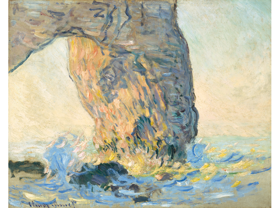 Claude Monet. Olas en Manneporte, hacia 1885. North Carolina Museum of Art