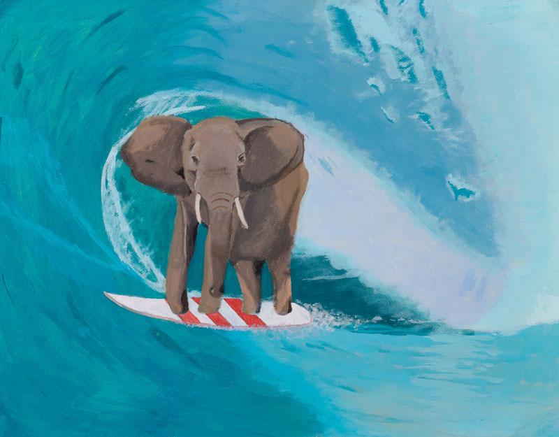 Martín Rosende. Elefante surfista