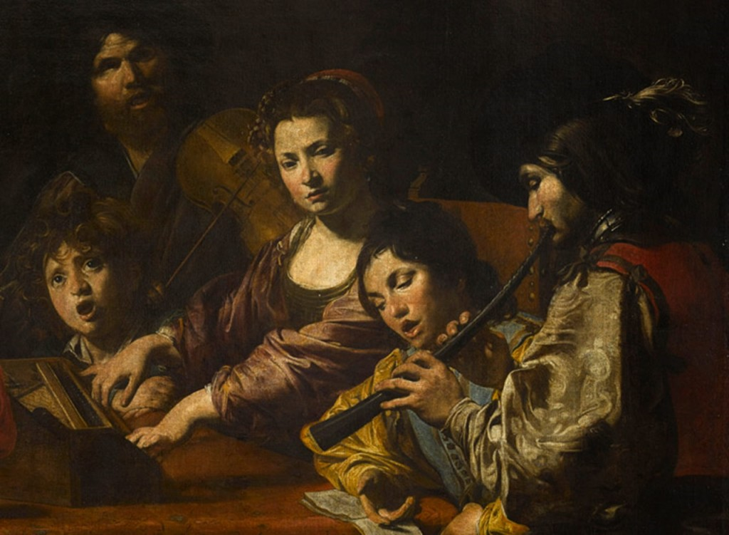 Valentin de Boulogne. Concert with Eight Figures