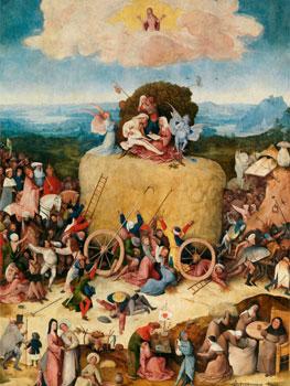 El Bosco. El carro de heno, 1510-1516 (fragmento)