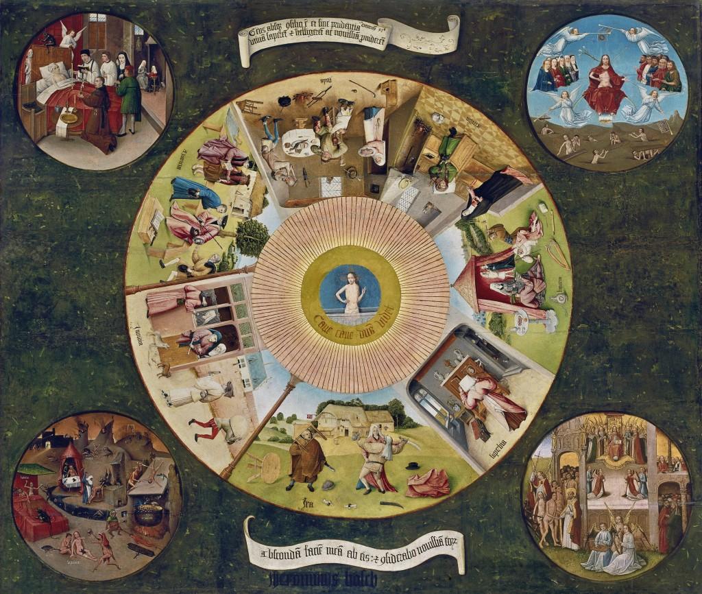 El Bosco. Mesa de los Pecados Capitales