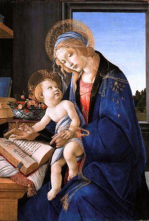Sandro Botticelli. Virgen y niño (Madonna del libro), 1478-1480. Museo Poldi Pelozzi, Milán