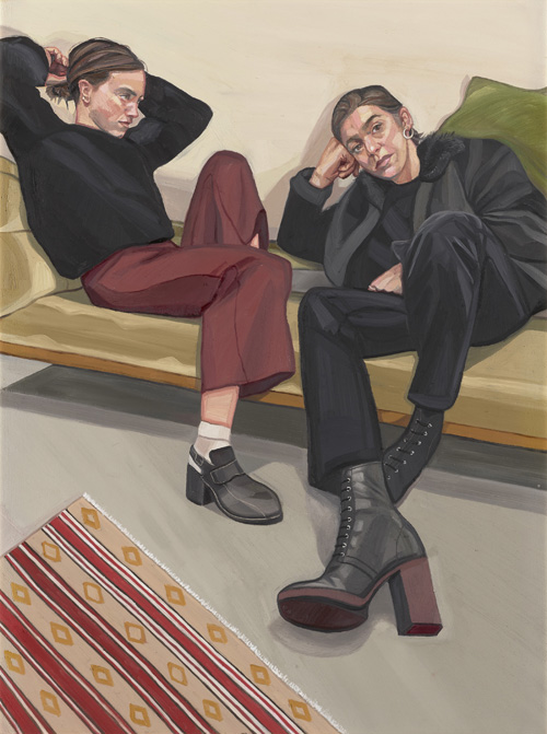 Ania Hobson. A Portrait of two Female Painters. © Ania Hobson