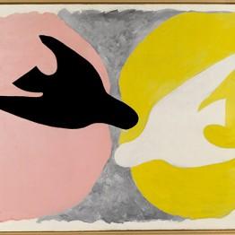 Georges Braque. Georges Braque Pájaro negro y pájaro blanco (L'Oiseau noir et l'oiseau blanc), 1960