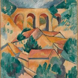 Georges Braque. El viaducto de L'Estaque (Le Viaduc de l'Estaque), principios de 1908