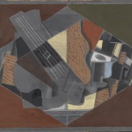 Georges Braque. Guitarra y vaso (Guitare et verre), 1917