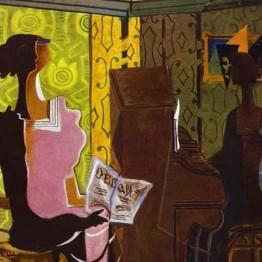 Georges Braque. Mujer con paleta (Femme à la palette), 1936