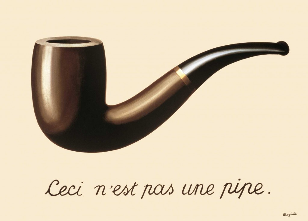 René Magritte, The Treachery of Images (This is Not a Pipe), 1929, Los Angeles County Museum of Art (LACMA),