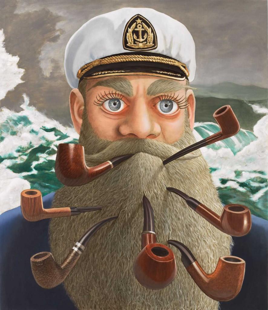 Sean Landers. Captain Homer (Seven pipes for seven seas), 2016. Colección privada. © Cortesía del artista y Rodolphe Janssen, Bruselas