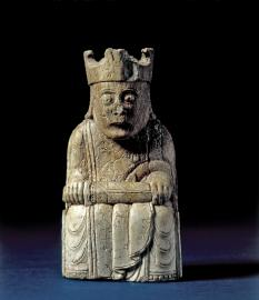 Rey del juego de ajedrez de Lewis, 1150-1200. © The Trustees of The British Museum (2016)