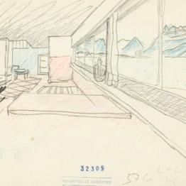 Le Corbusier. Un incendio. S/f. Óleo sobre papel. Fondation Le Corbusier, París. © 2014 FLC-VEGAP