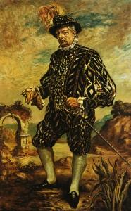 Giorgio de Chirico. Autorretrato con traje negro, ca. 1948-1954. Galleria nazionale d'Arte Moderna de Roma, Roma © Giorgio de Chirico, VEGAP, Barcelona, 2017