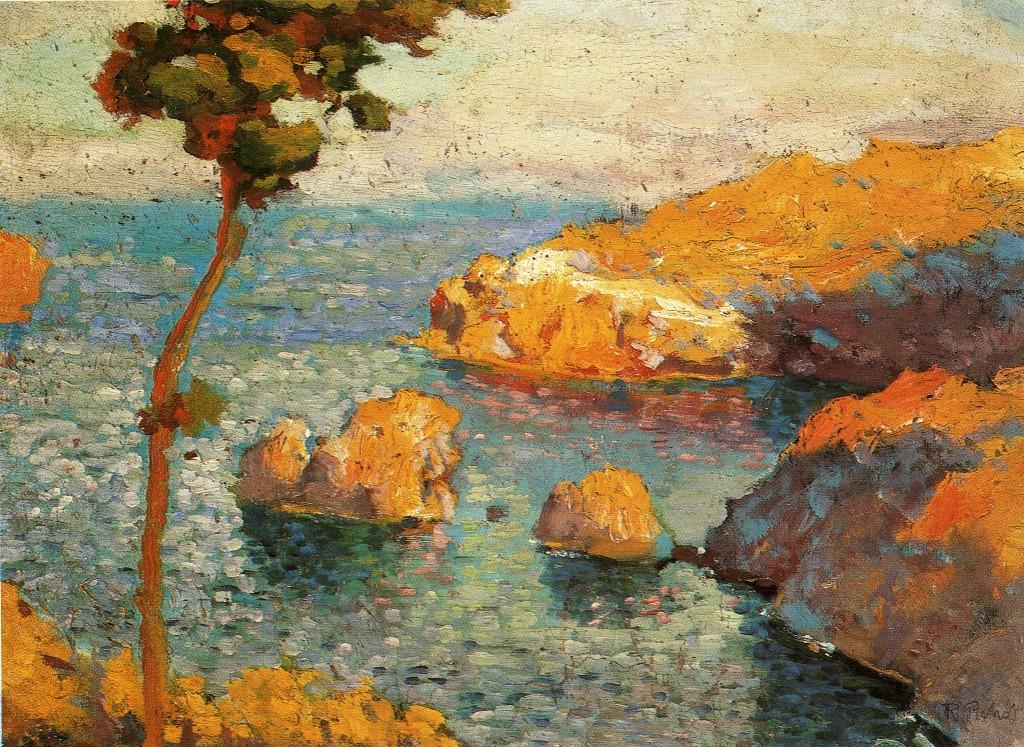Ramón Pichot. Cala Nans, Cadaqués, hacia 1900. Colección particular