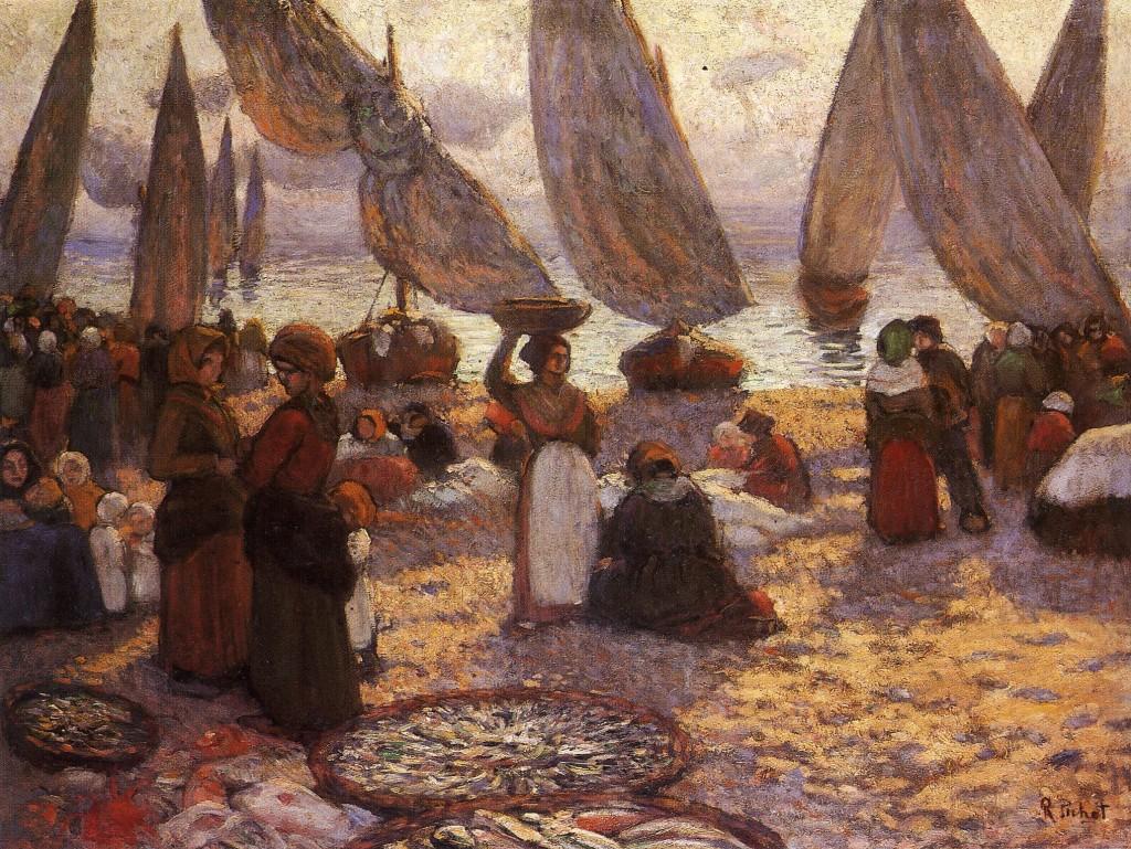 Ramón Pichot. Retorno de las barcas, hacia 1910. Artur Ramón Art