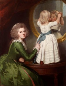 George Romney. Mrs. Russell and Son, 1786-1787. Colección Roger Seelig