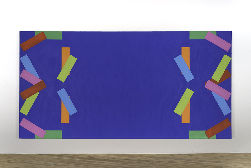 Rosemarie Castoro. Blue Red Gold Pink Green Yellow Y Bar, 1965