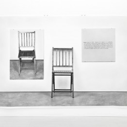 "Martí Cormand. Joseph Kosuth's ""one and three chairs,1965"""