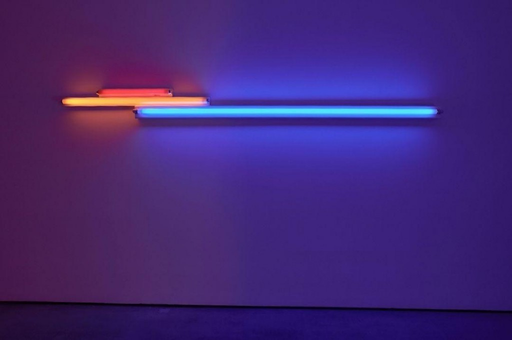 "Dan Flavin. untitled (in memory of ""Sandy"" Calder) V, 1977. ©2017 Stephen Flavin/Artists Rights Society (ARS), Nueva York. © Joaquín Cortés"
