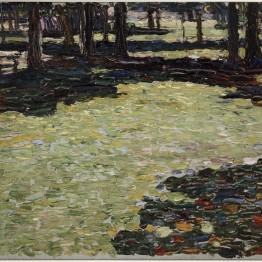 Wassily Kandinsky. Park von Saint-Cloud (Parque de Saint- Cloud), 1906. © Vassily Kandinsky, VEGAP, Madrid 2015