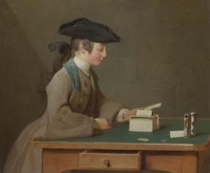 Chardin. Castillo de naipes, 1736-1737