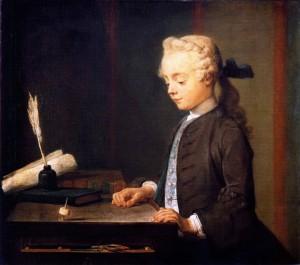 Chardin. Niño con peonza, 1738