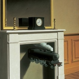 René Magritte. Time Transfixed, 1938. Joseph Winterbotham Collection. © C. Herscovici, London / Artists Rights Society (ARS), New York