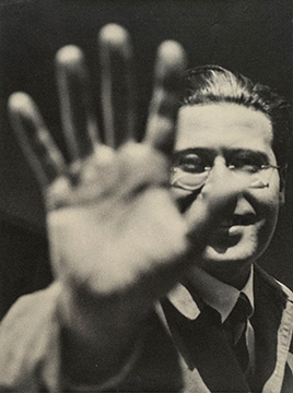 ászló Moholy-Nagy. Photograph (Self-Portrait with Hand), 1925/29