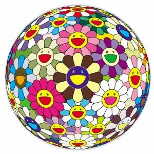 Takashi Murakami. Flower Ball 2, 2002. Galerie Perrotin. © 2002 Takashi Murakami/Kaikai Kiki Co., Ltd