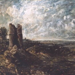 Sketch for 'Hadleigh Castle' circa 1828-9 by John Constable 1776-1837