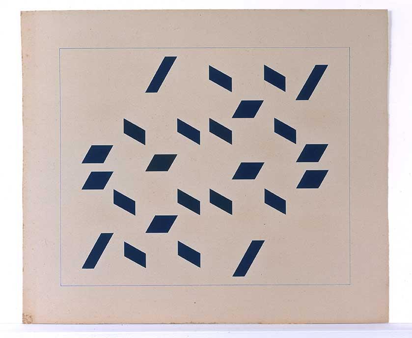 Hélio Oiticica. Metaesquema 214, 1957