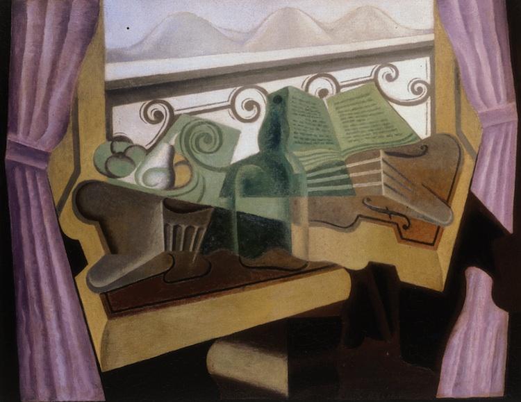 Juan Gris. La fenêtre aux collins, hacia 1923