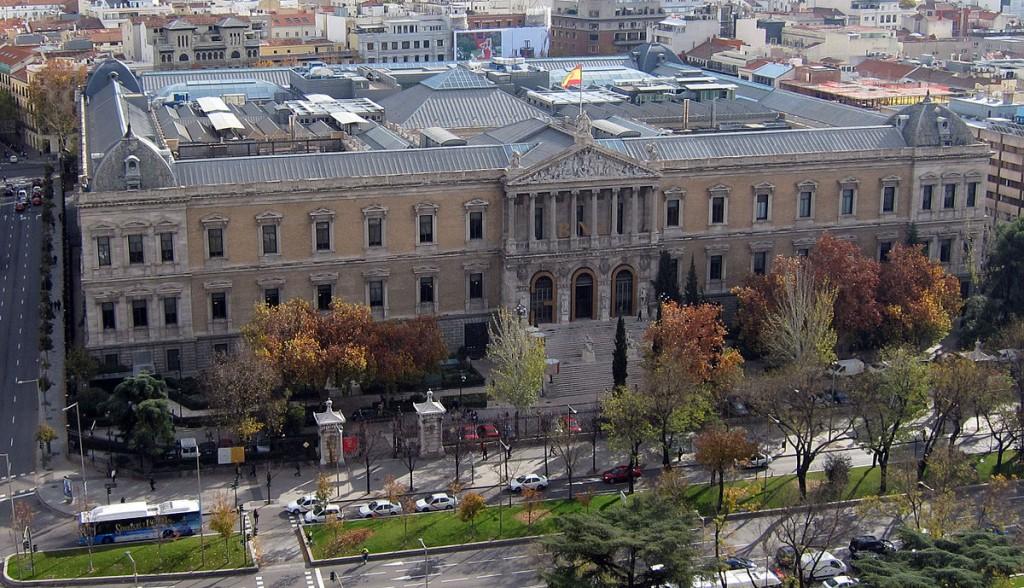 Fachada de la Biblioteca Nacional. BNE