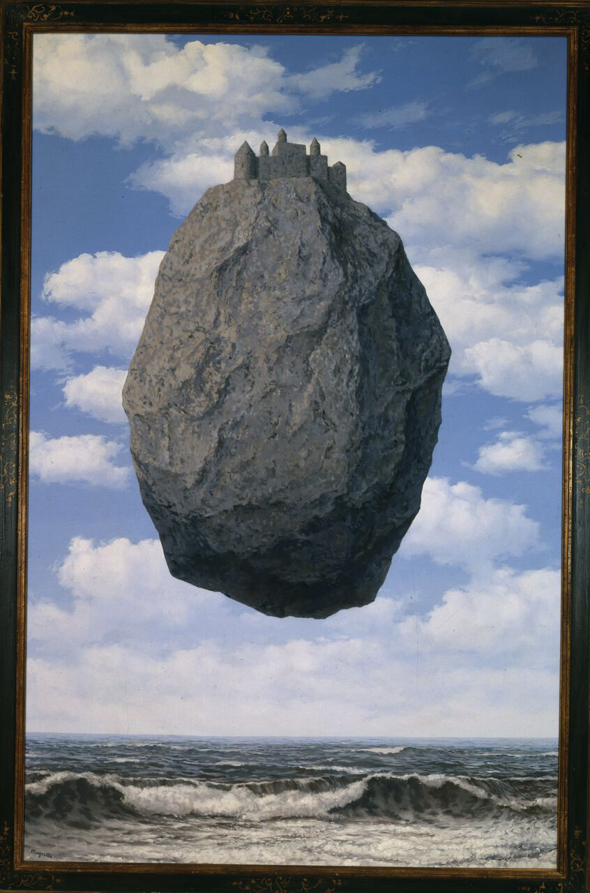 René Magritte. The Castle of the Pyrenees, 1959