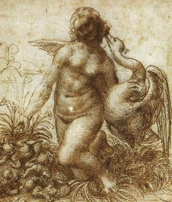 Leonardo da Vinci. Leda y el cisne, 1505