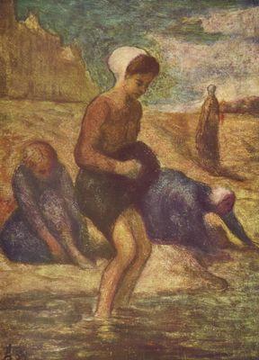 Daumier. Baño de las muchachas, 1847