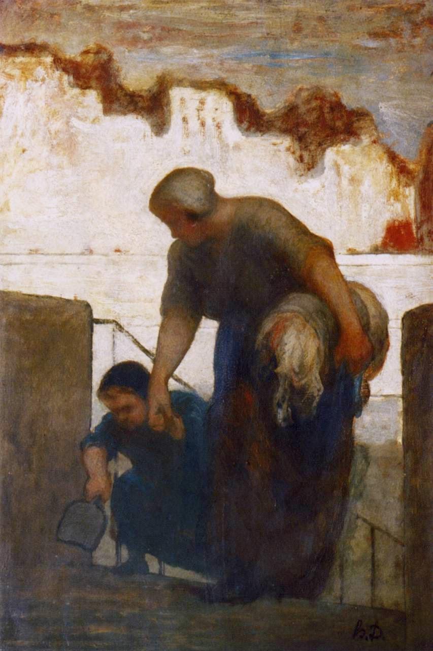 Daumier. Lavandera