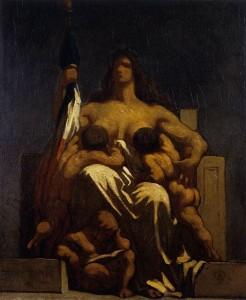 Honoré Daumier. Alegoría de la República, 1848