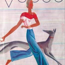Eduardo García Benito. Portada de la revista Vogue: Vacances, julio 1930
