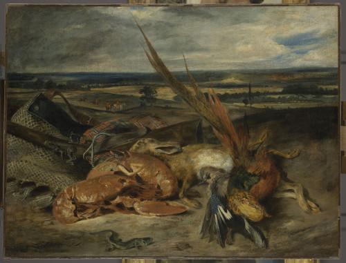 Eugène Delacroix. Nature morte au homard
