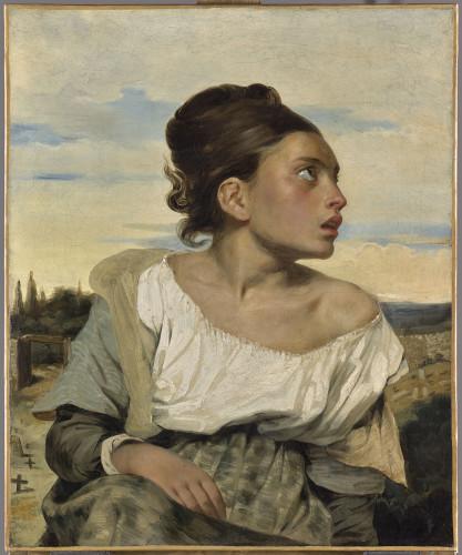 Eugène Delacroix. Jeune orpheline au cimetière. Musée du Louvre © RMN-Grand Palais