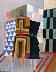 Sonia Delaunay-Terk. Vestidos simultáneos (Tres mujeres, formas, colores), 1925. Museo Thyssen-Bornemisza