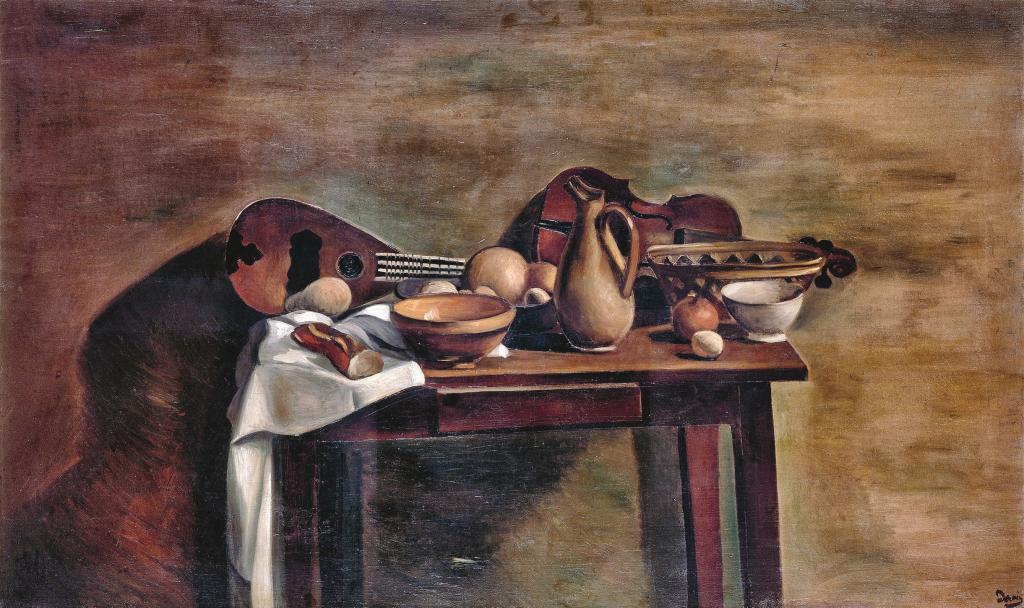André Derain. La Table garnie, hacia 1922. Musée d'Art Moderne, Troyes. Collections Nationales Pierre et Denise Lévy. Foto : © RMN-Grand Palais / Gérard Blot © André Derain, VEGAP, Madrid, 2018