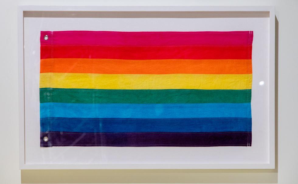 Gilbert Baker. Bandera original del Gay Pride, 1976