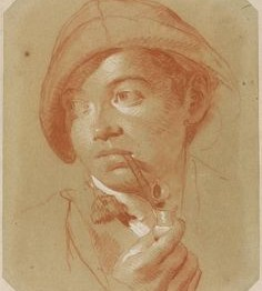 Obras maestras del dibujo: Lorenzo Tiépolo. Joven fumando, 1770-1779
