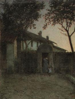 Angelo Morbelli. Alba, 1891. Museu Nacional d'Art de Catalunya, Barcelona