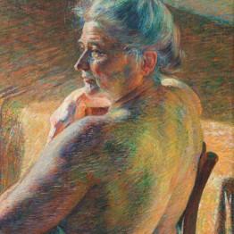 Umberto Boccioni. Nudo di spalle (Controluce), 1909. Mart. Museo di Arte Moderna e Contemporanea di Trento e Rovereto, Rovereto. Colección L. F.