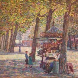 Gino Severini. El vendedor de barquillos, 1909. Colección particular