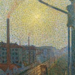 Luigi Russolo. Periferia-lavoro, 1910. Colección particular, Erba