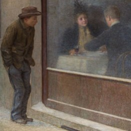 Emilio Longoni. Riflessioni di un affamato, 1893. Museo del Territorio Biellese, Biella