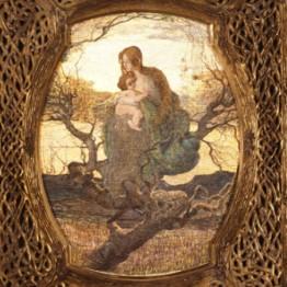 Giovanni Segantini. El ángel de la vida, 1894-1895. Museum of Fine Arts, Budapest